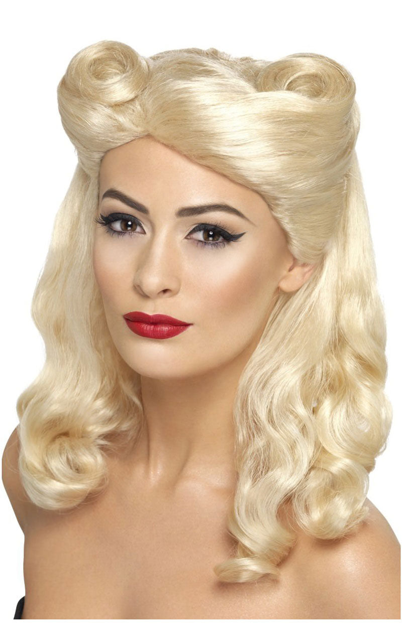 1940s Pin Up Blonde Wig