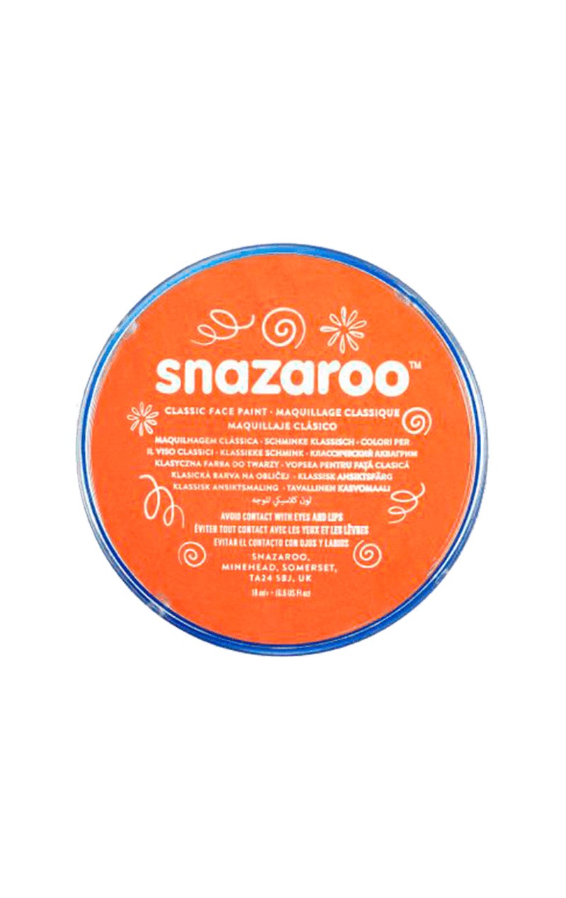 Snazaroo Bright Orange Face Paint