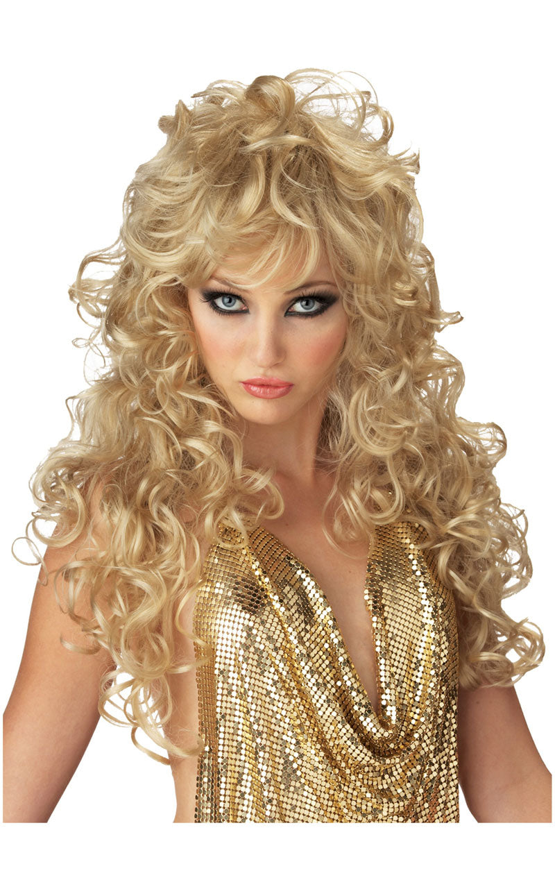 Womens Seduction Curly Blonde Wig