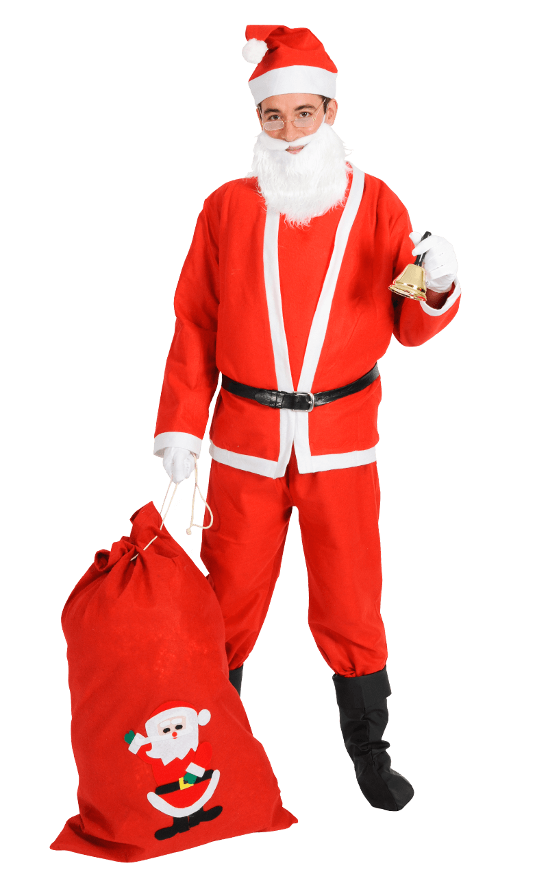 Adult Budget Christmas Santa Costume