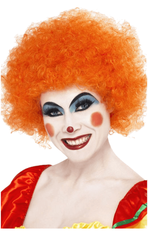 Economy Clown Wig in ORANGE