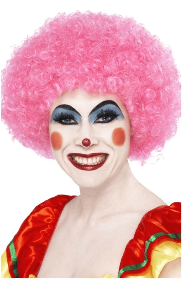 Economy Clown Wig in PINK