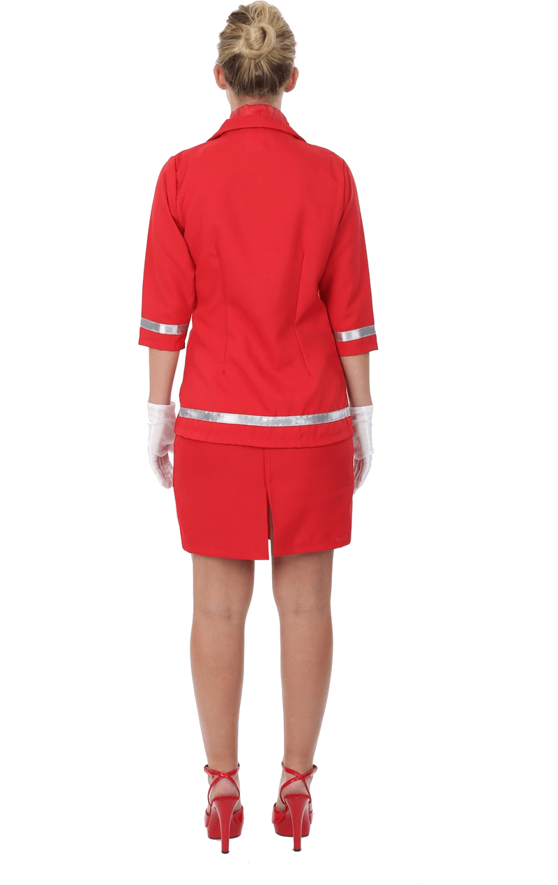 Adult Sizzling Red Air Hostess Costume