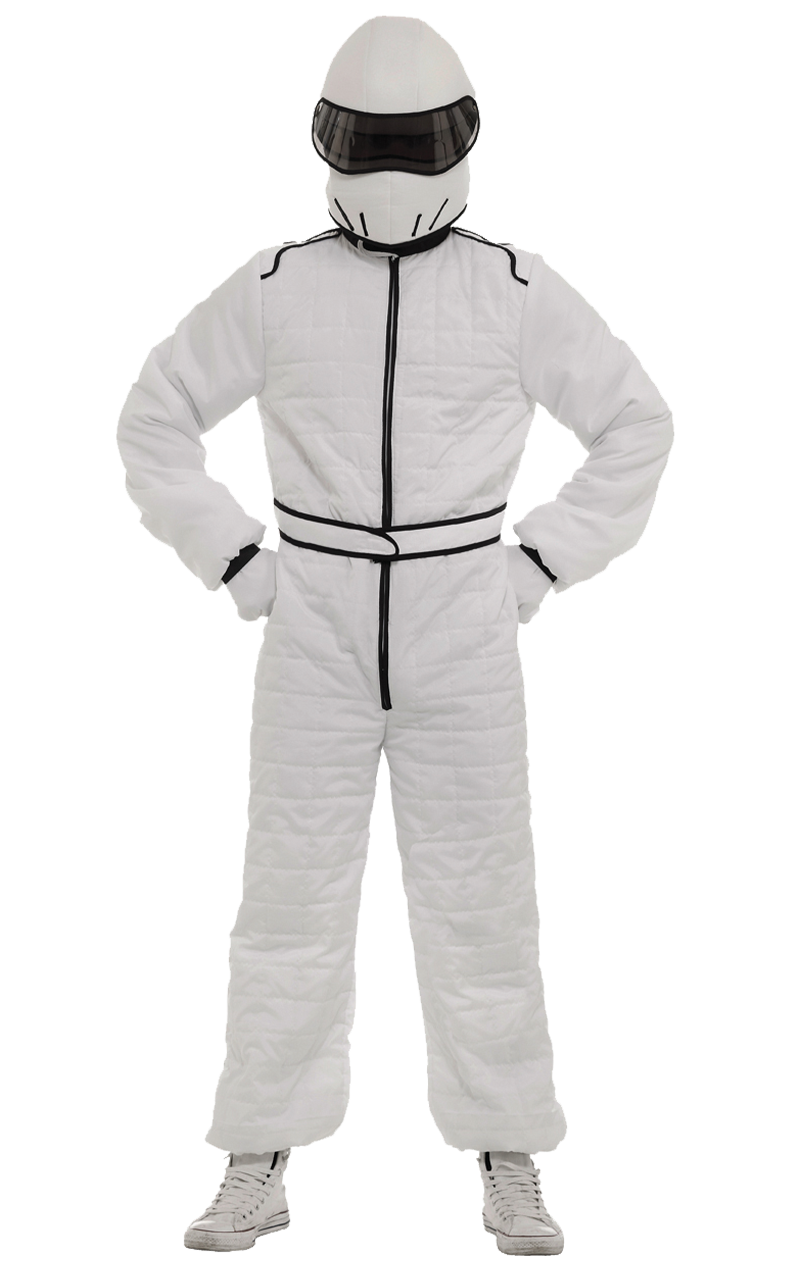 White Race Suit and Helmet