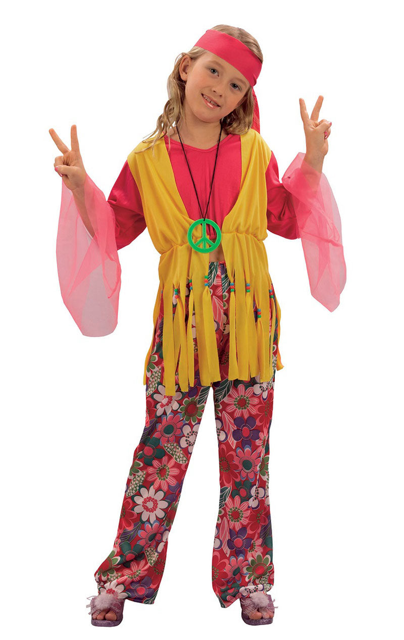 Child 60s Hippy Girl Costume