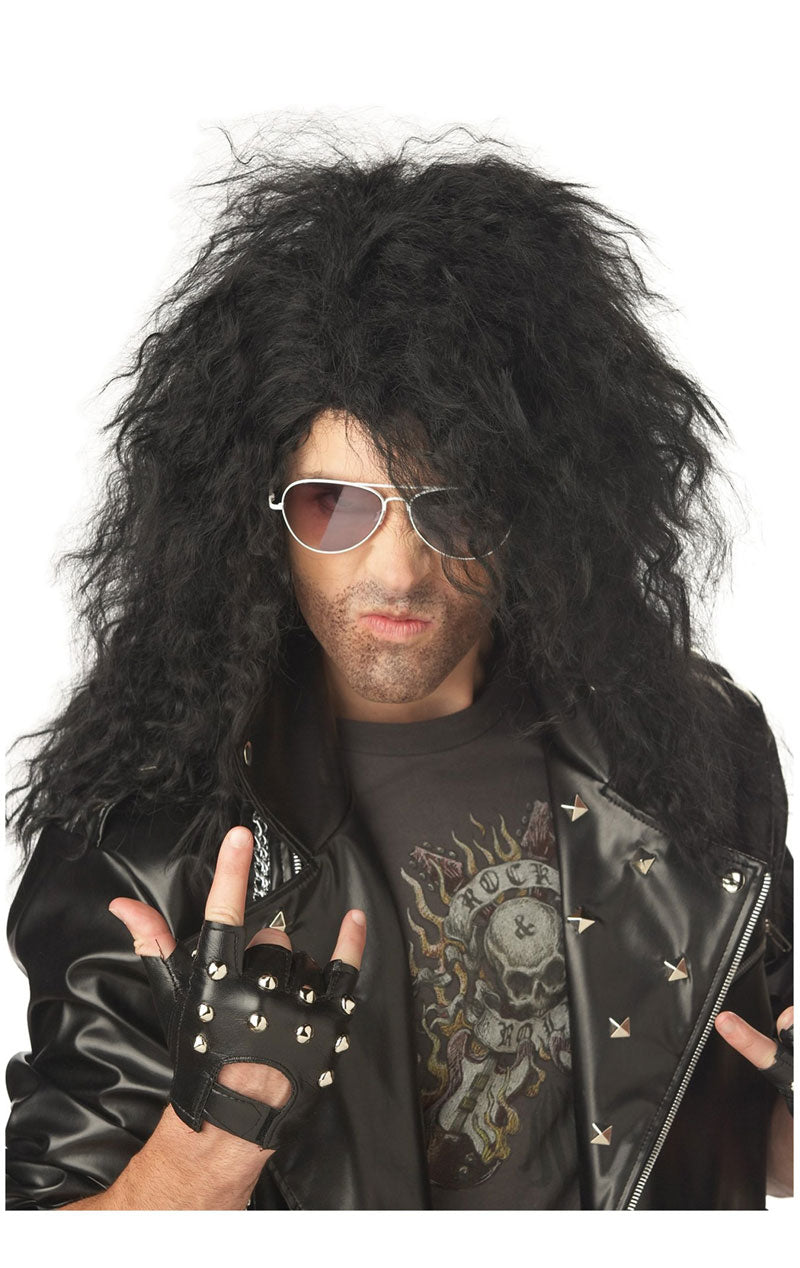 Adult Heavy Metal Rocker Black Wig
