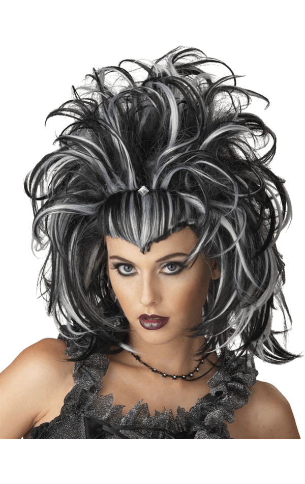 Evil Sorceress Wig (Black/White)