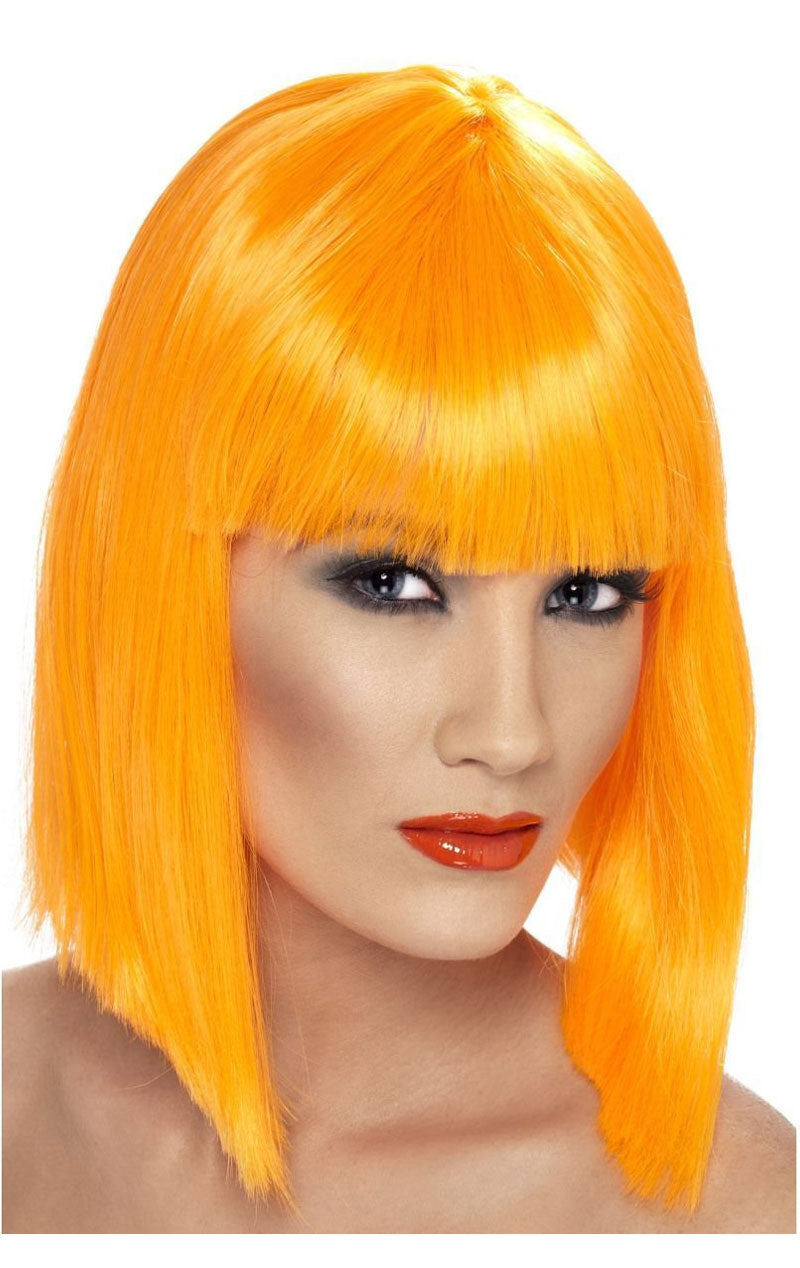Adult Glam Wig Neon ORANGE