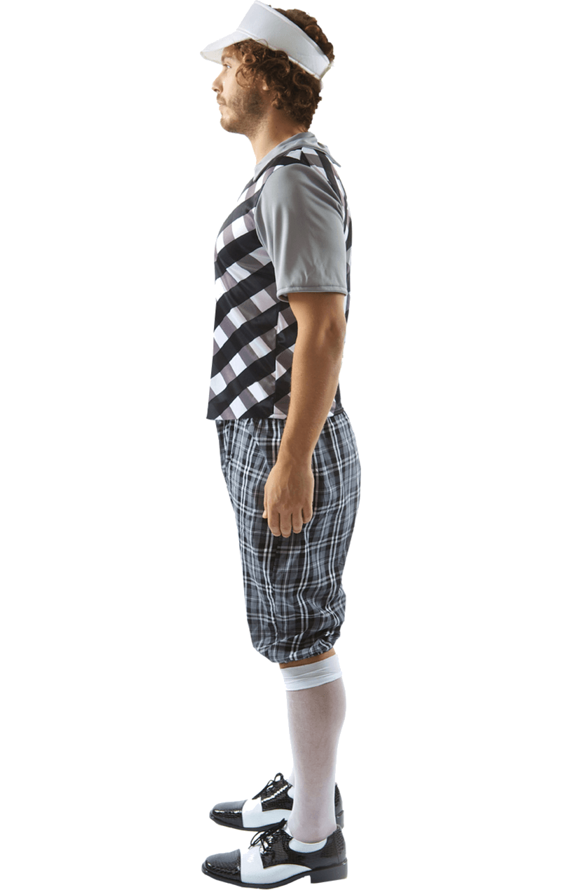 Male Golfer Costume (Black & White)