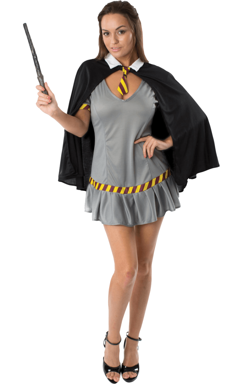 Wizard Schoolgirl Fancy Dress Costume