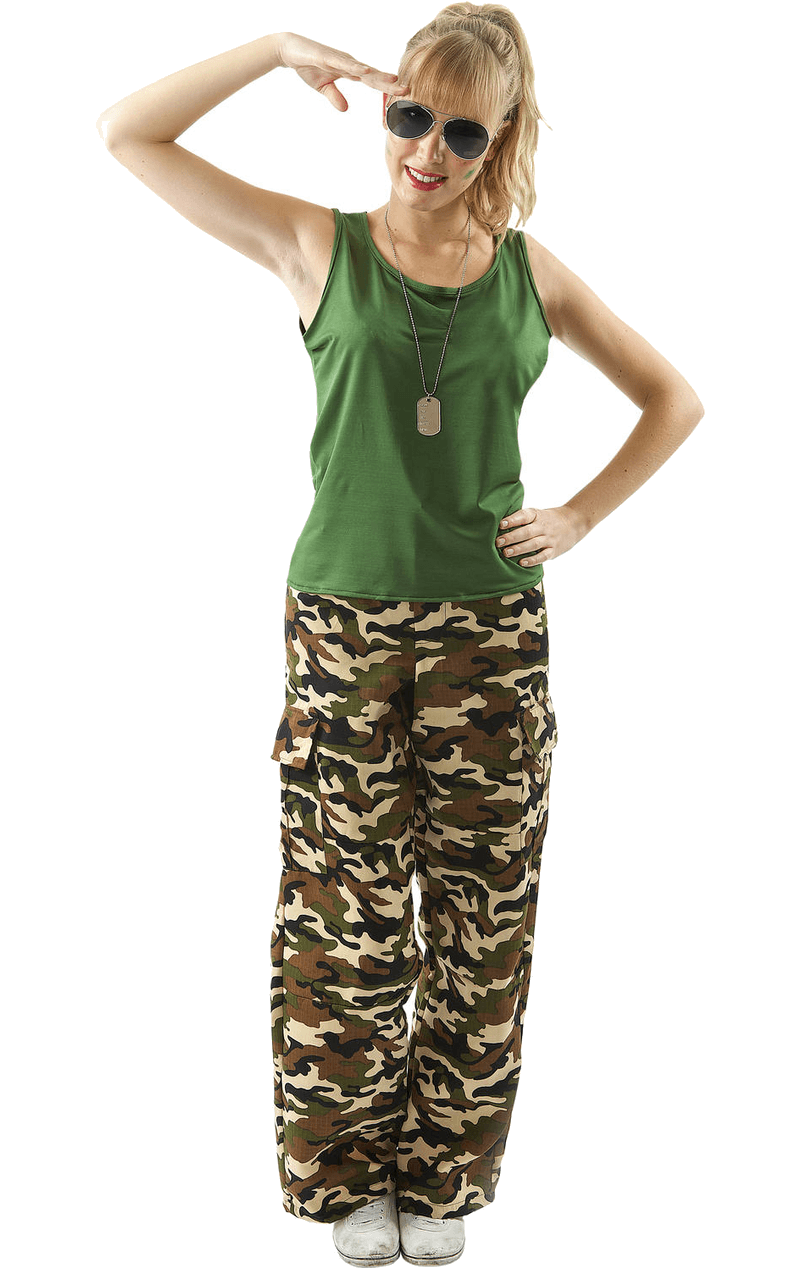 Camo Army Girl Costume