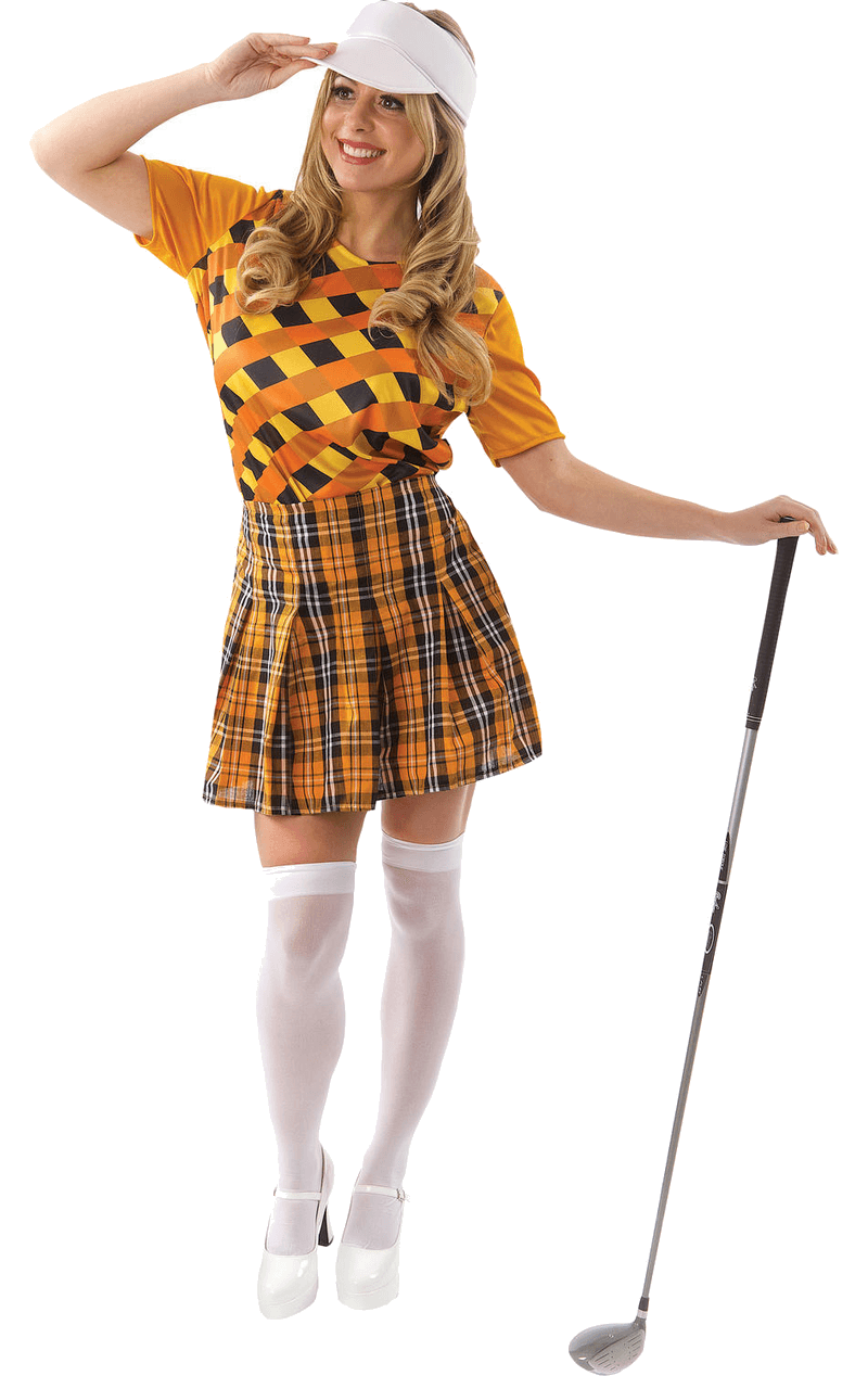 Female Golfer Costume (Orange & Black)