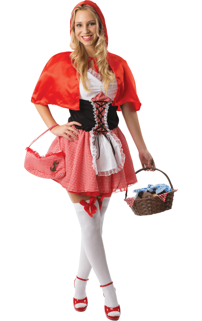 Adult Little Red Riding Hood Fancy Dress Costume