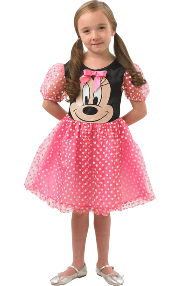 Child Pink Puffball Minnie Costume