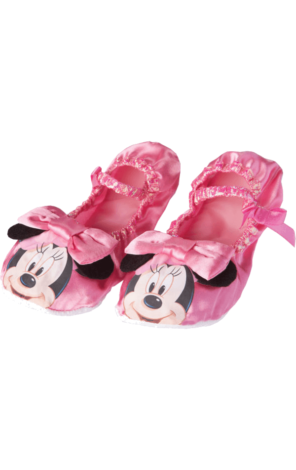 Child Pink Minnie Mouse Slippers