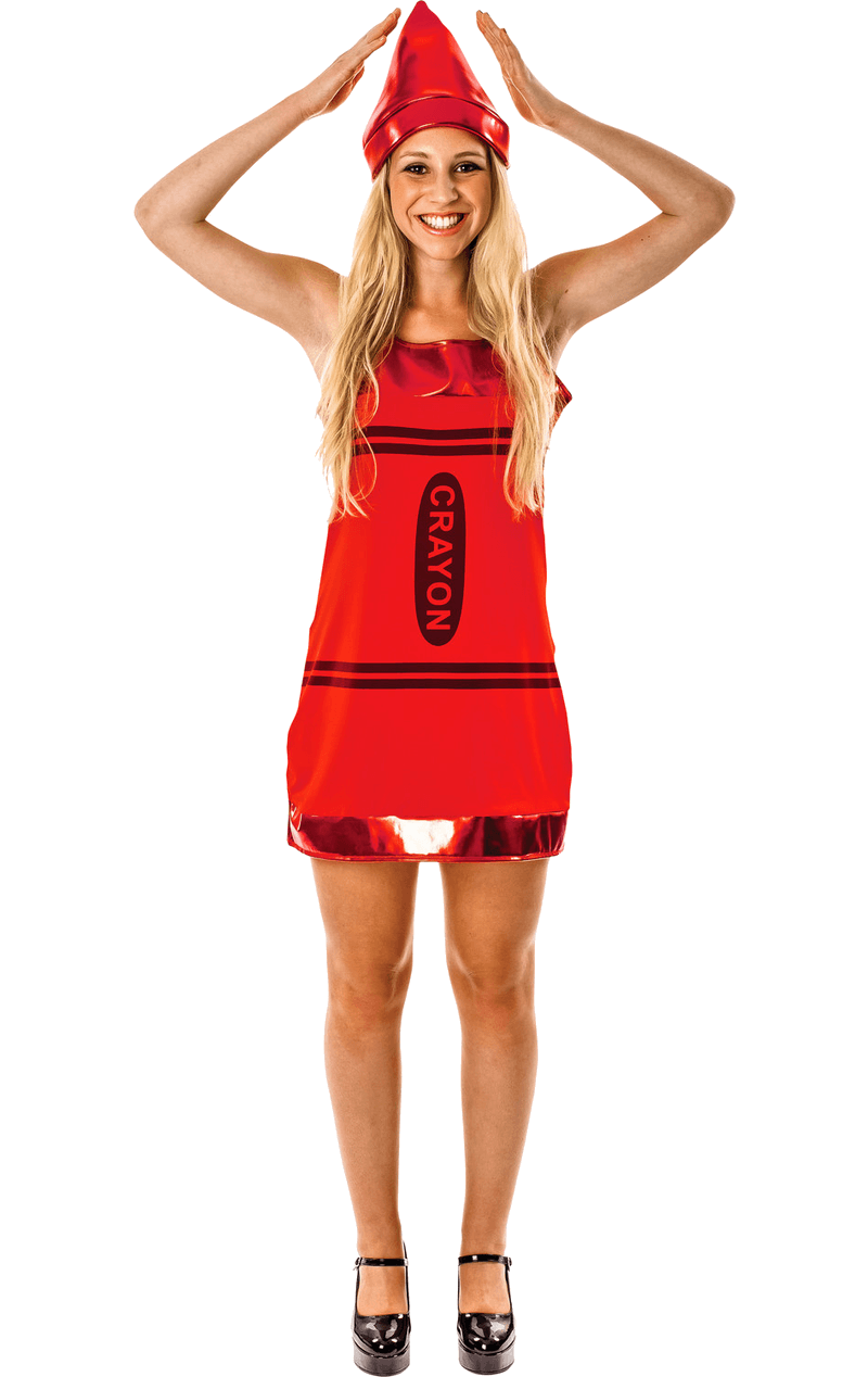 Women's Red Crayon Fancy Dress Costume