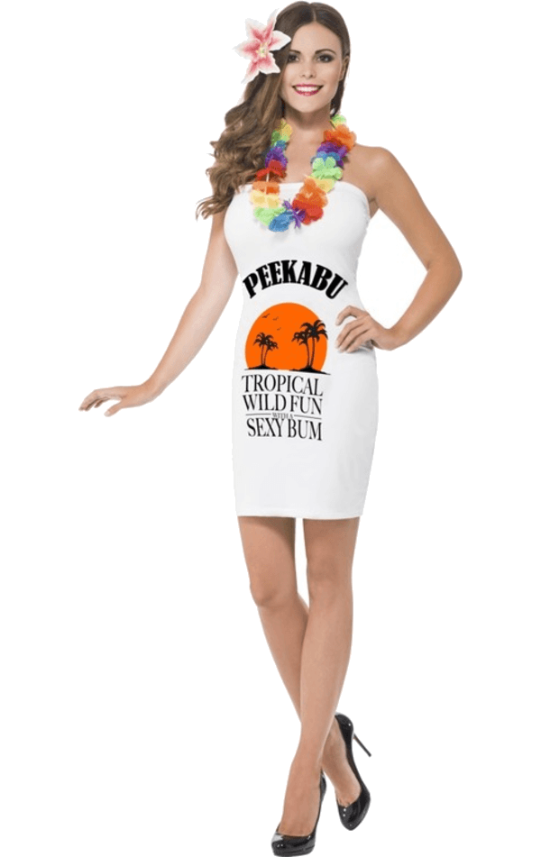 Adult Peekabu Caribbean Fun Costume