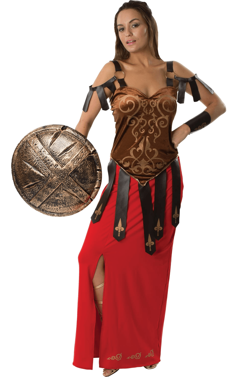 Adult Gorgeous Gladiator Fancy Dress Costume
