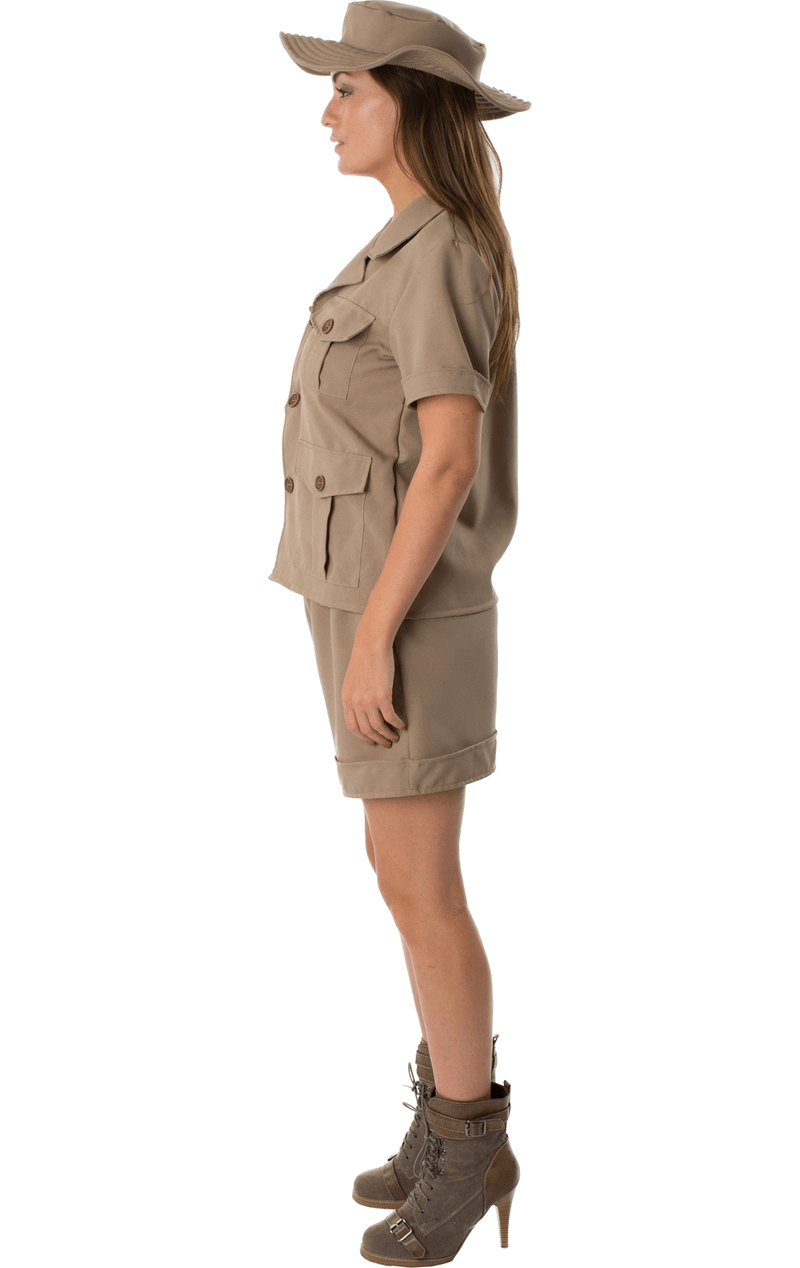 Adult Safari Lady Fancy Dress Costume