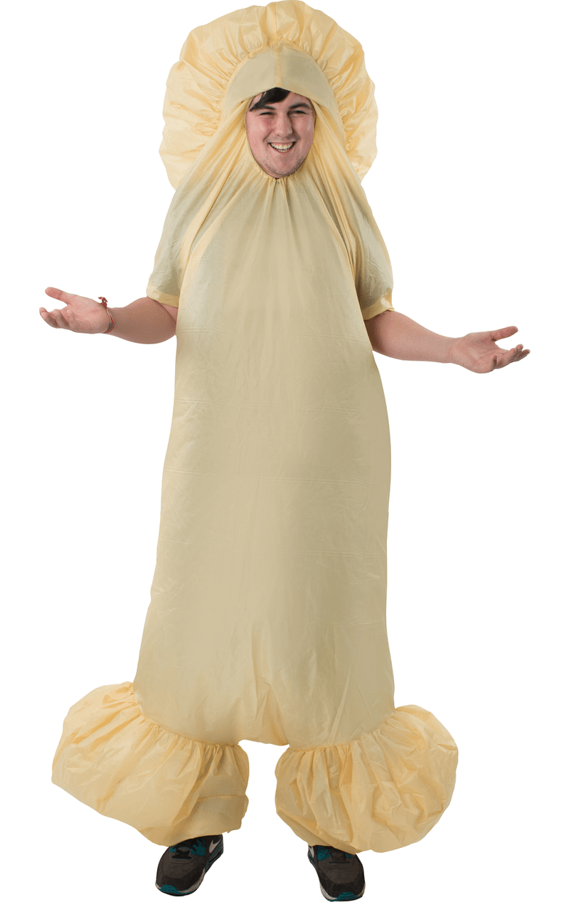 Adult White IC1 Inflatable Penis Fancy Dress Costume