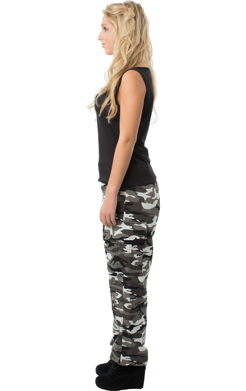 Adult Arctic Camo Army Girl Fancy Dress Costume