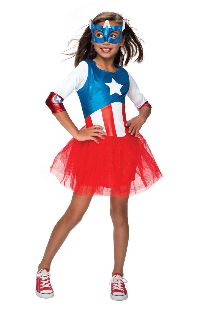 Child Avengers Metallic American Dream Costume