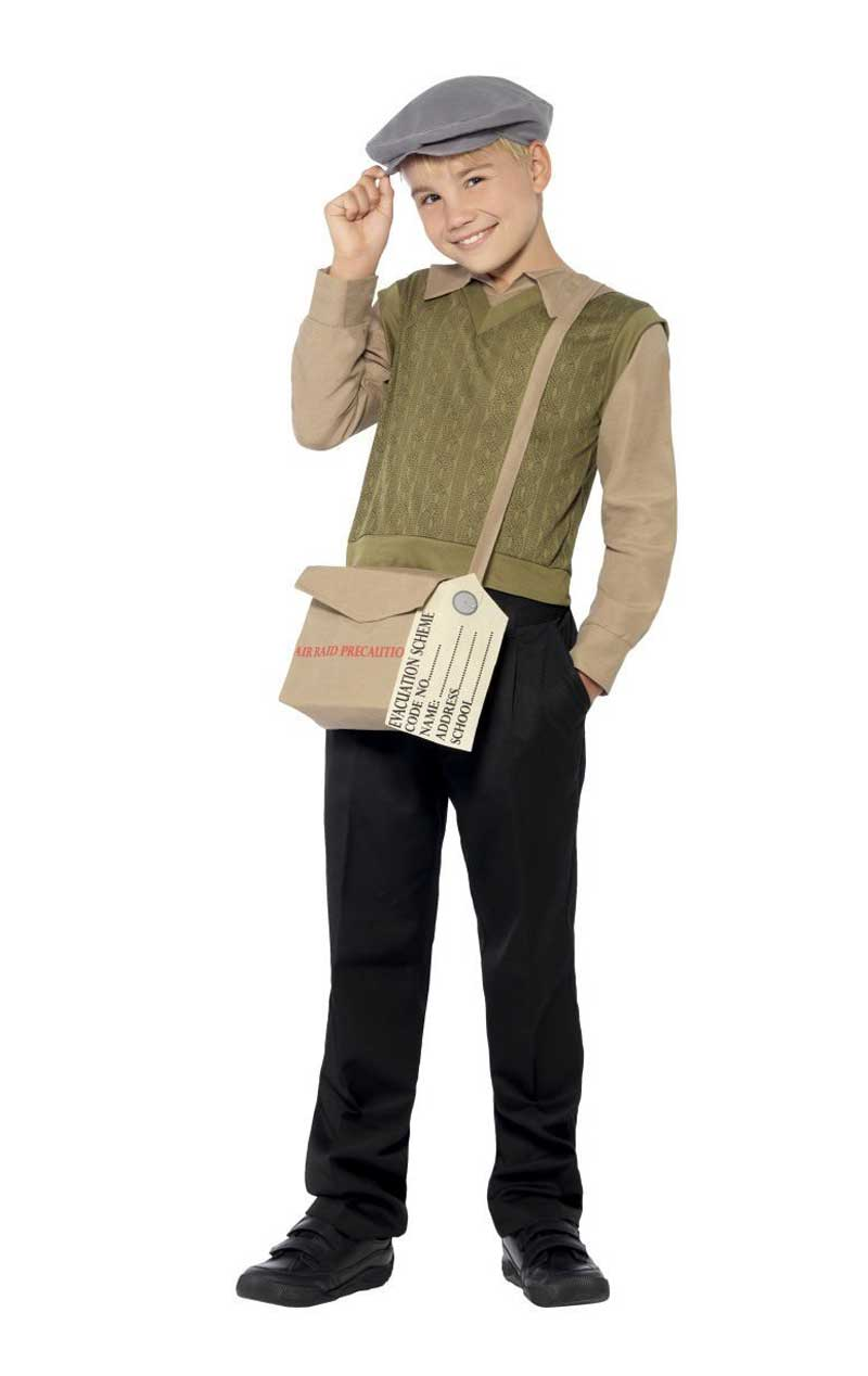 Child Evacuee Boy Costume