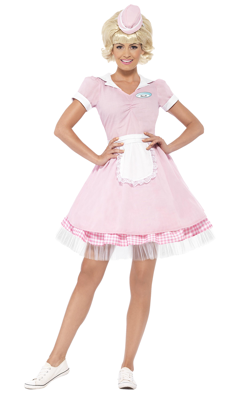 Adult 50's Diner Girl Costume