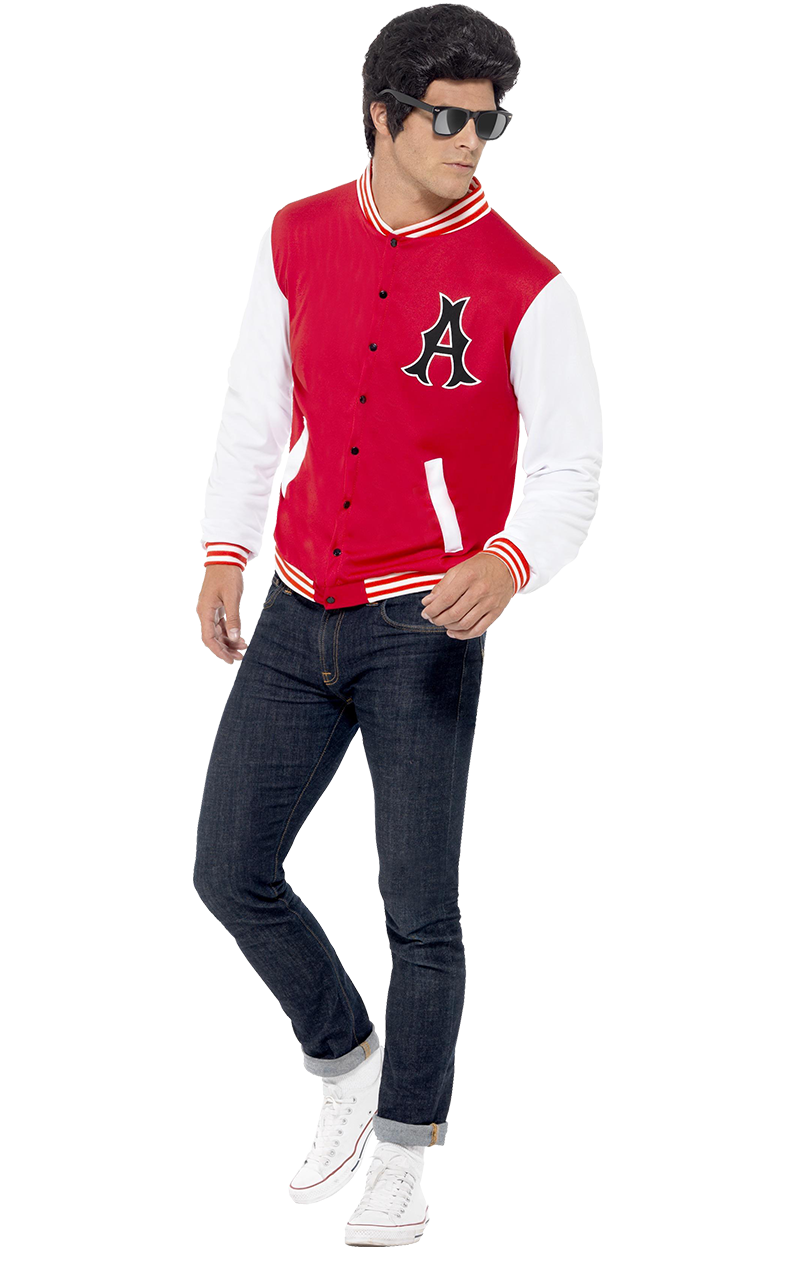 Adult 50's College Jock Letterman Jacket