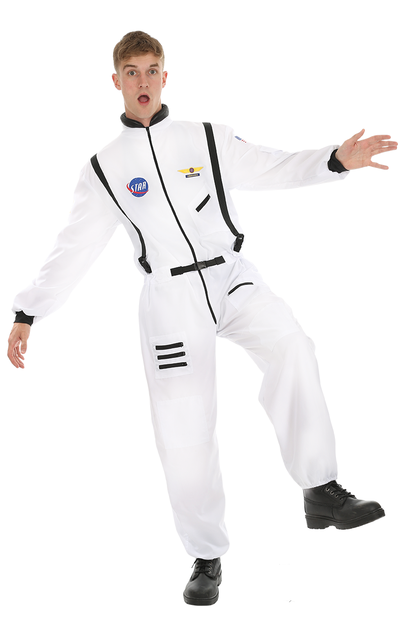 Adult Men's White Astronaut Costume