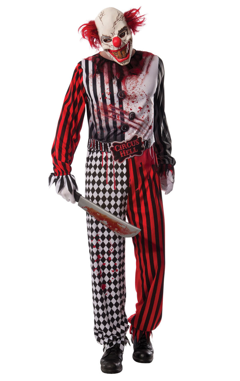 Adult Evil Clown Halloween Costume