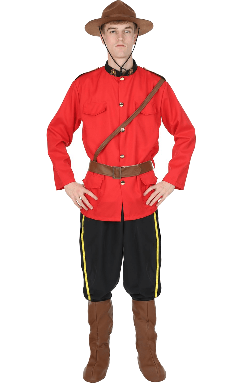 Adult Male Canadian Mountie Costume