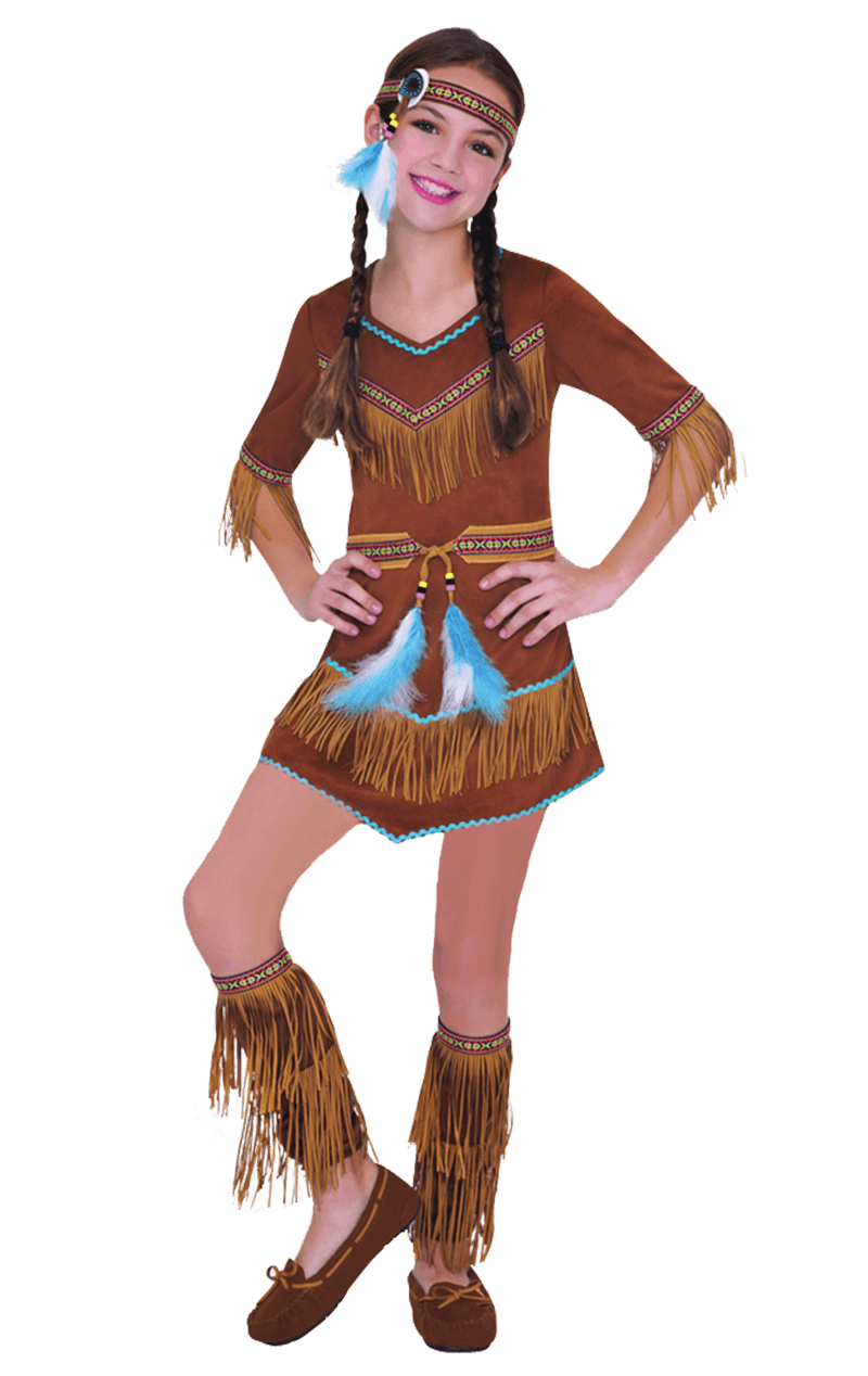 Child Dream Catcher Red Indian Girl Costume