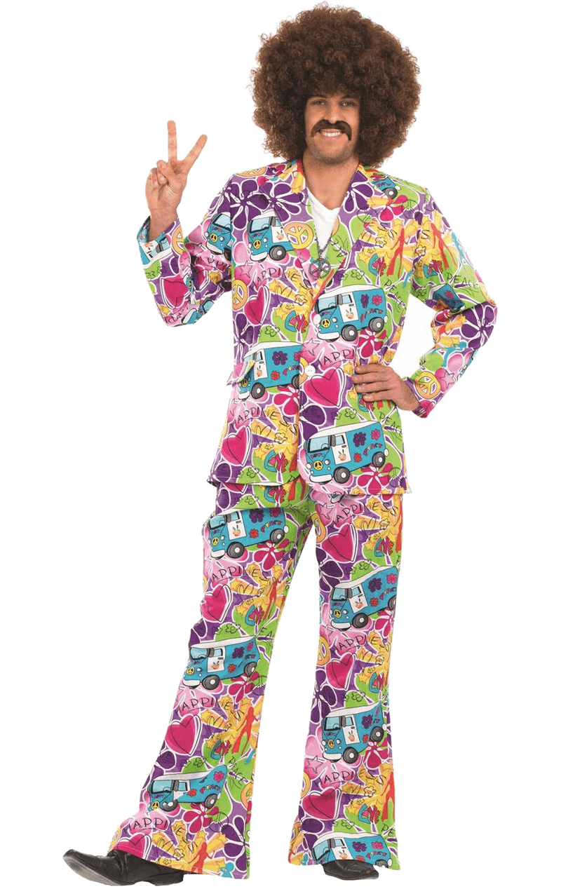 Adult Mens Psychedelic Suit