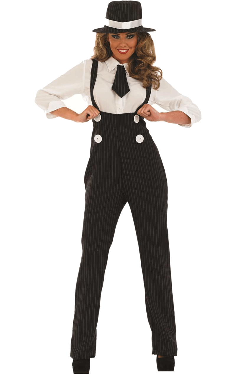 Adult Black Lady Gangster Costume