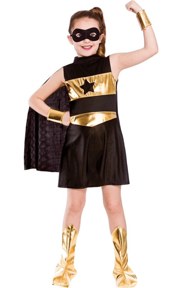 Child Super Hero Costume Black