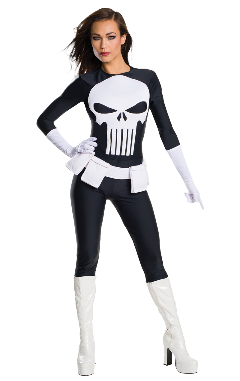 Adult Womens Punisher Costume