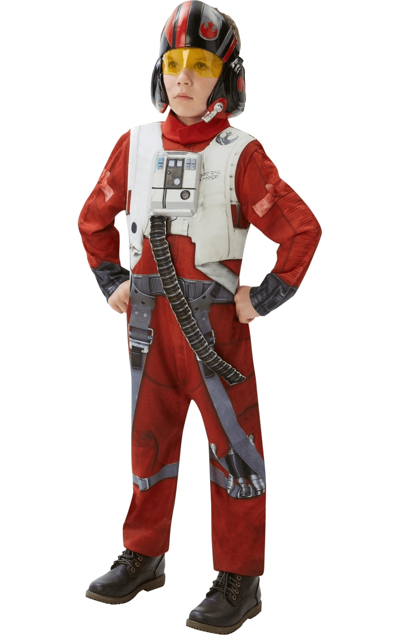 Star Wars Child Poe (X-Wing Fighter) Deluxe Costume