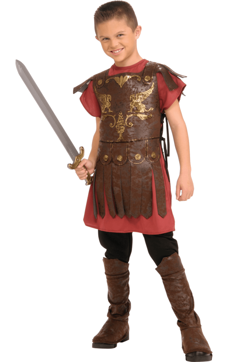 Child Gaius Roman Gladiator Fancy Dress Costume