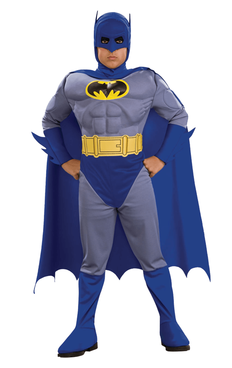 Child Deluxe Muscle Chest Batman Brave and Bold Costume