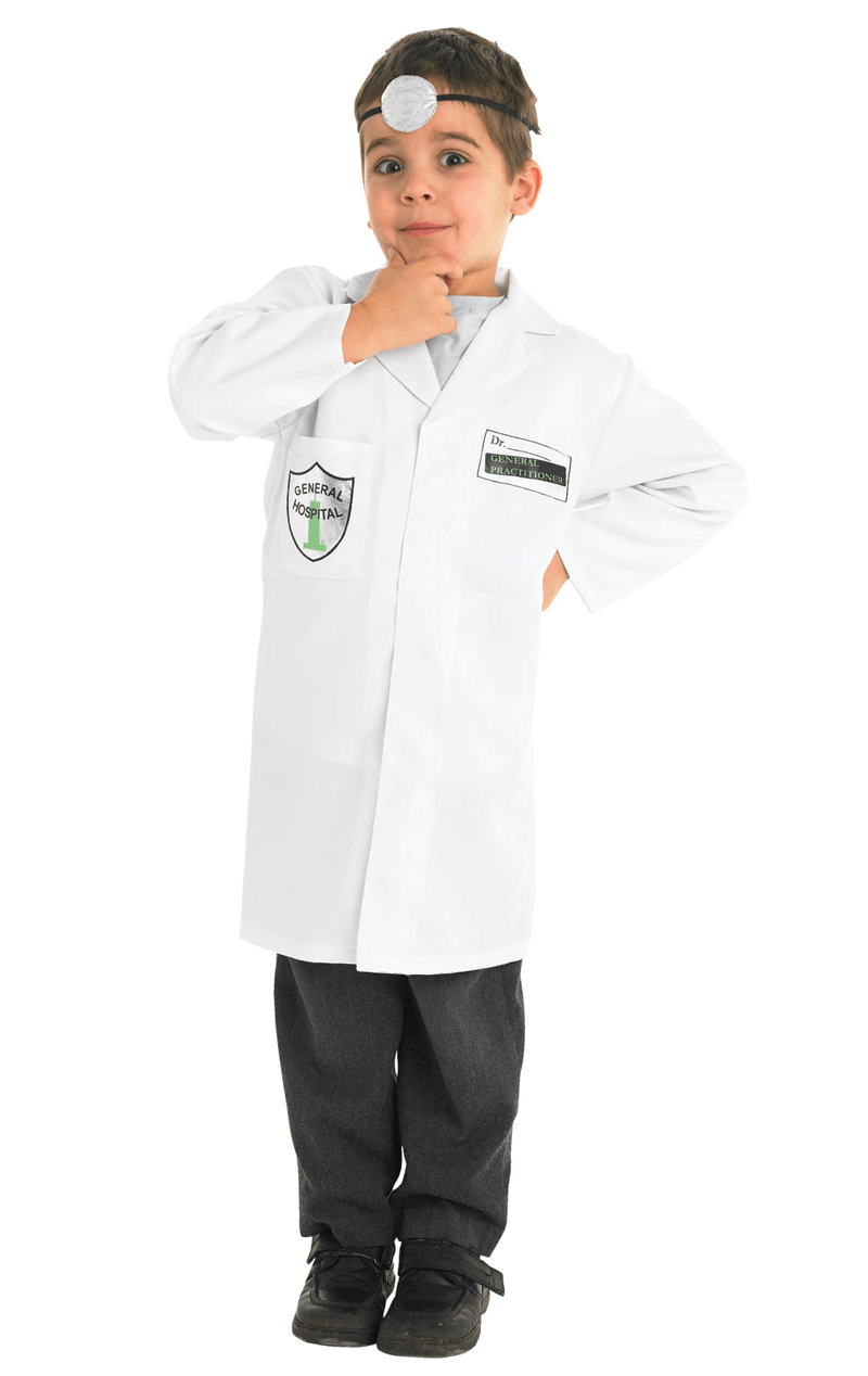 Child Doctor White Uniform Fancy Dress Costume