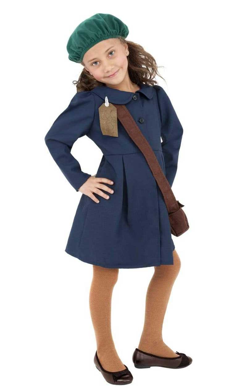 Child World War II Evacuee Girl Costume