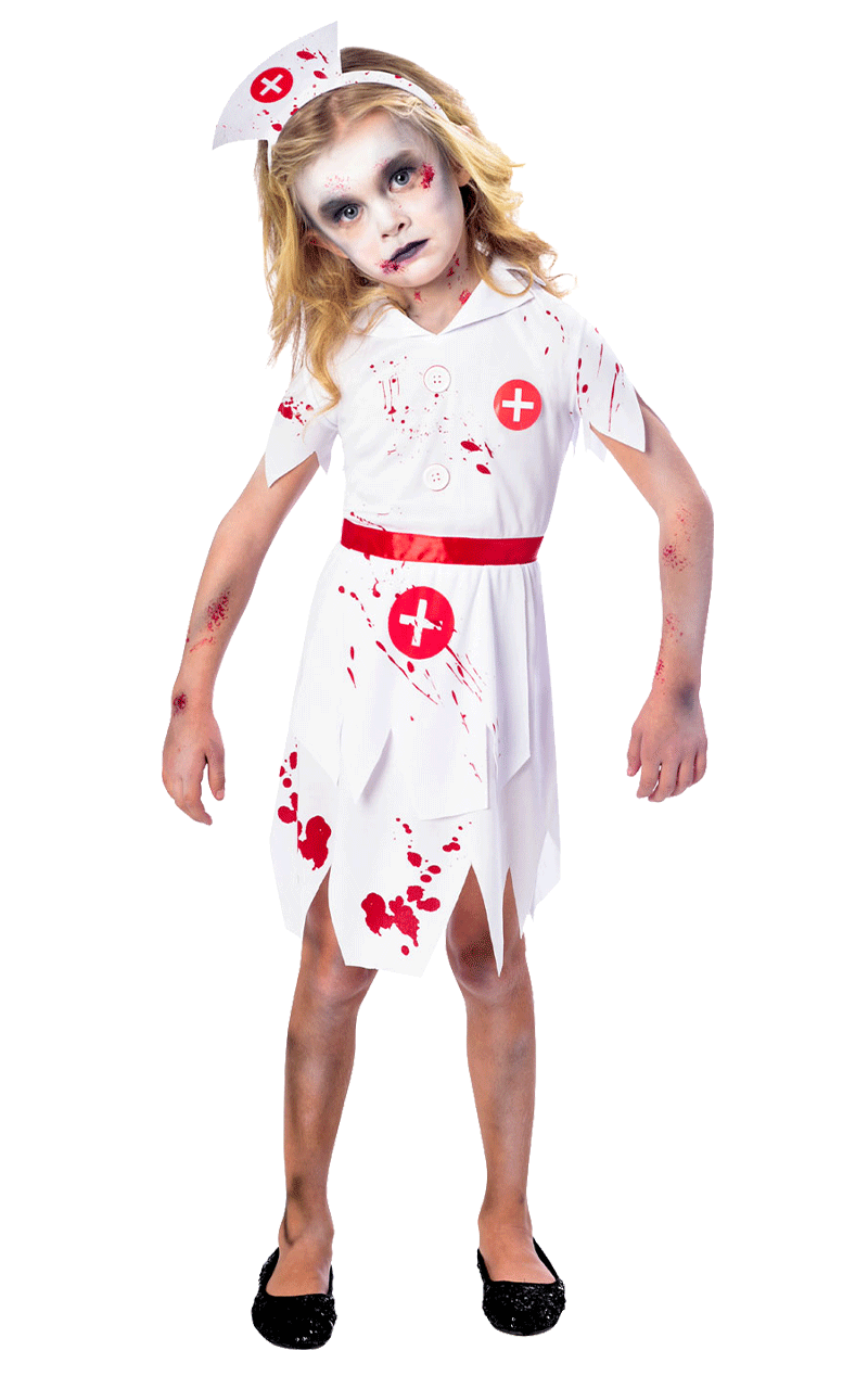 Kids Zombie Nurse Costume
