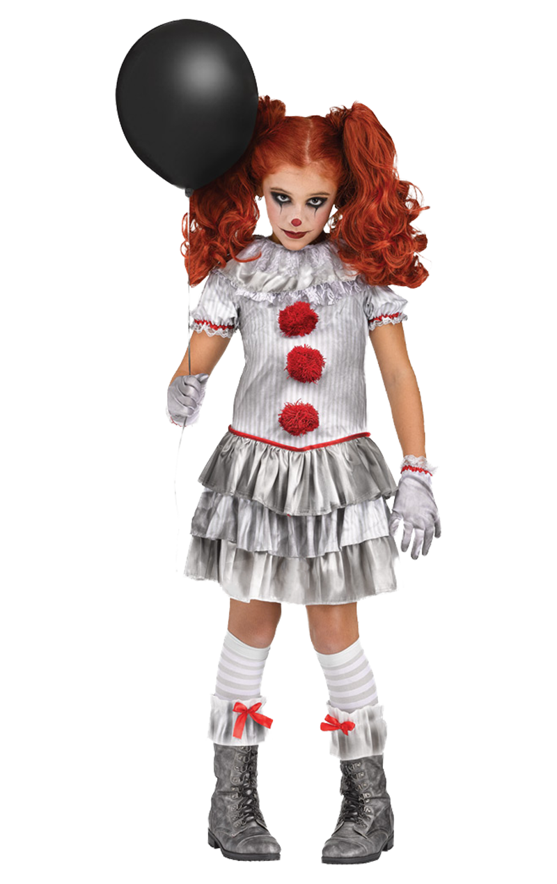 Kids Miss Pennywise Clown Costume