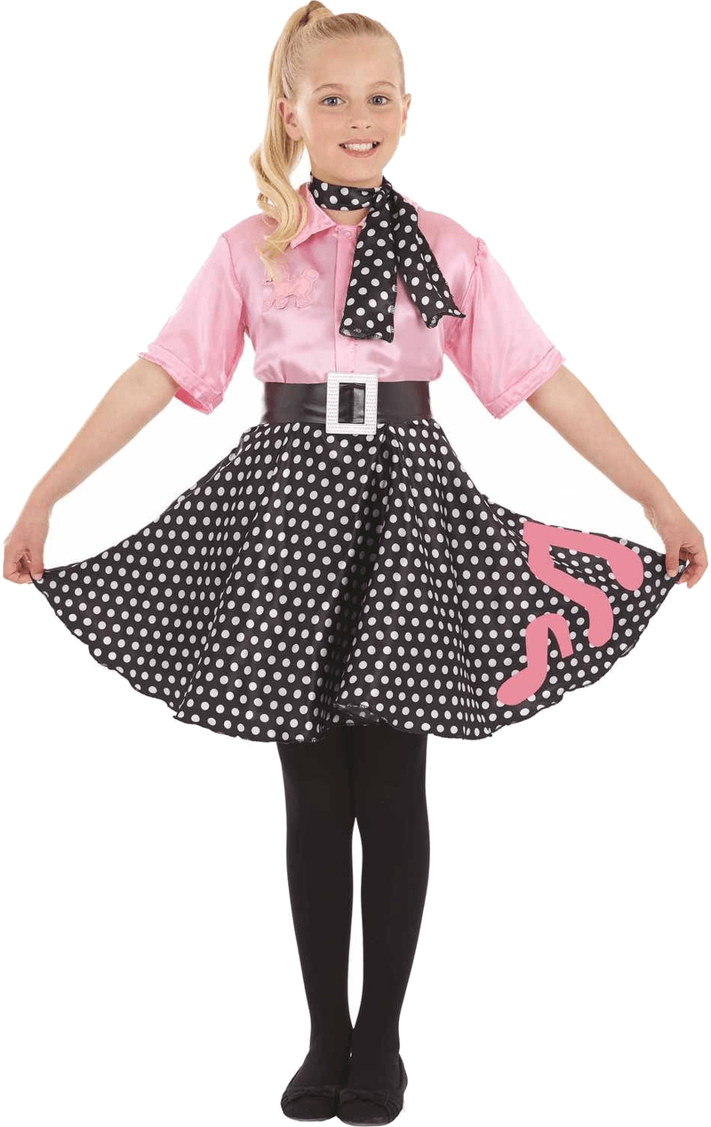 Child 50s Poodle Hop Costume