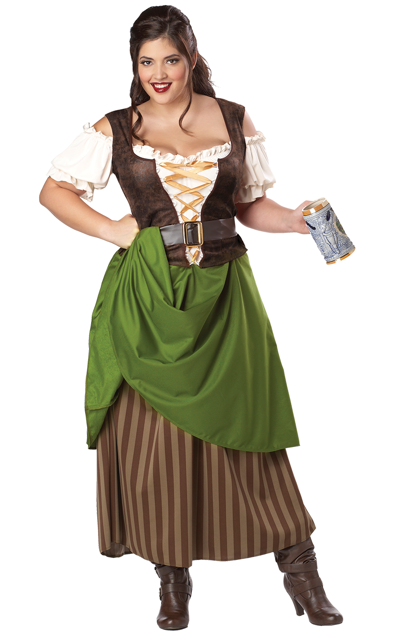 Adult Tavern Maiden Costume (Plus Size)