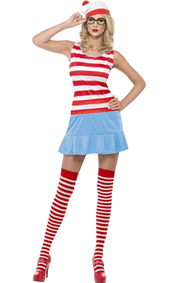 Ladies' Where's Wally Cutie Costume