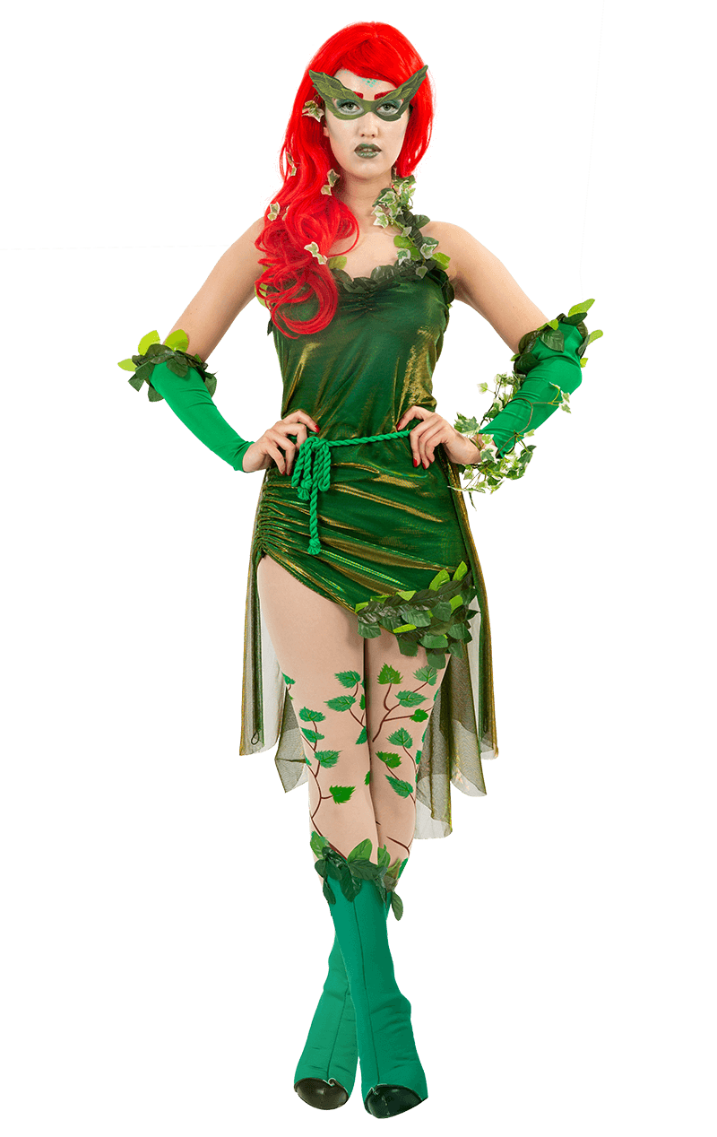 Ladies Poison Ivy Lethal Beauty Fancy Dress Outfit