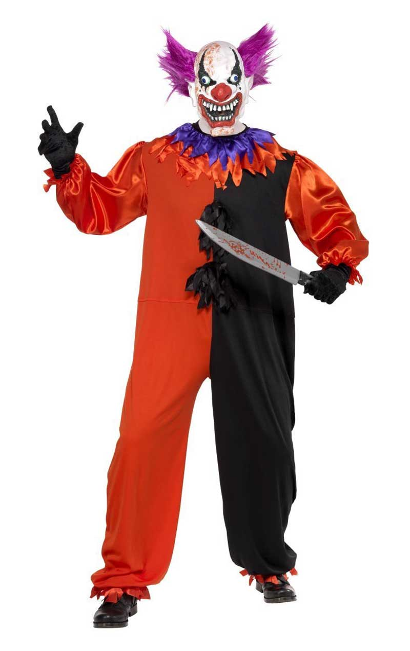 Adult Sinister Bo Bo the Clown Costume
