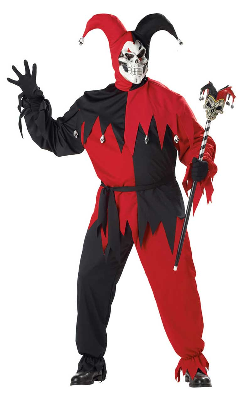 Jester Costume Evil Red & Black (Plus Size)